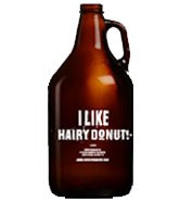 Growler I like hairy donut